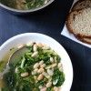 Cannellini & Escarole Stew with Parmesan Garlic Toast