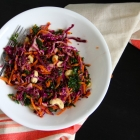 Rainbow Slaw with Sweet Ginger Lime Dressing
