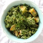 Warm Potato & Kale Salad with Tahini-Dill Dressing