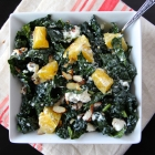 Kale Salad with Citrus, Almonds & Feta