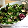 Courgette & Green Bean Salad with Tahini Mint Dressing