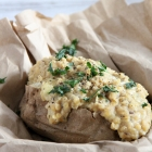 Cheesy Lentil Jacket Potatoes