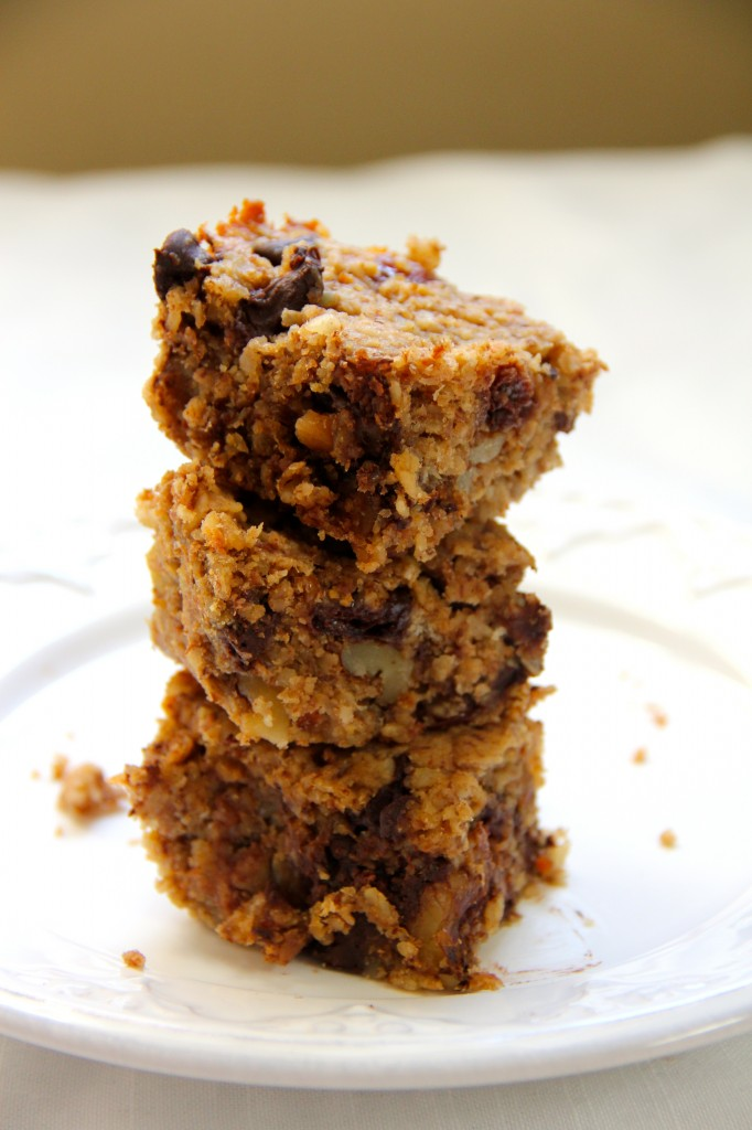 Dark Chocolate, Cherry & Walnut Breakfast Bars- Emma's Little Kitchen