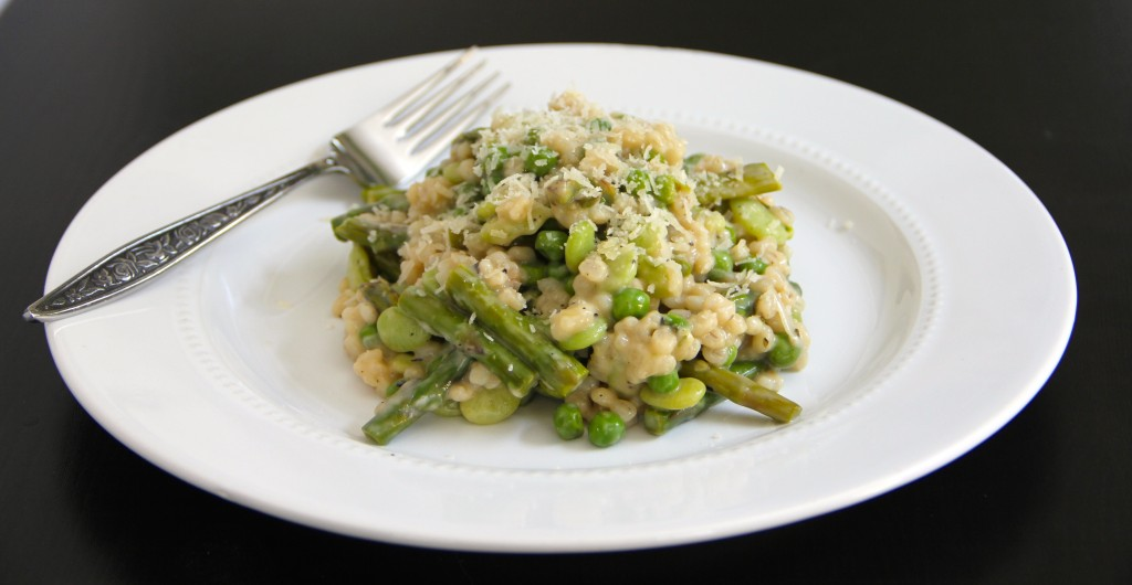 Spring Vegetable Barley Risotto- Emmas Little Kitchen