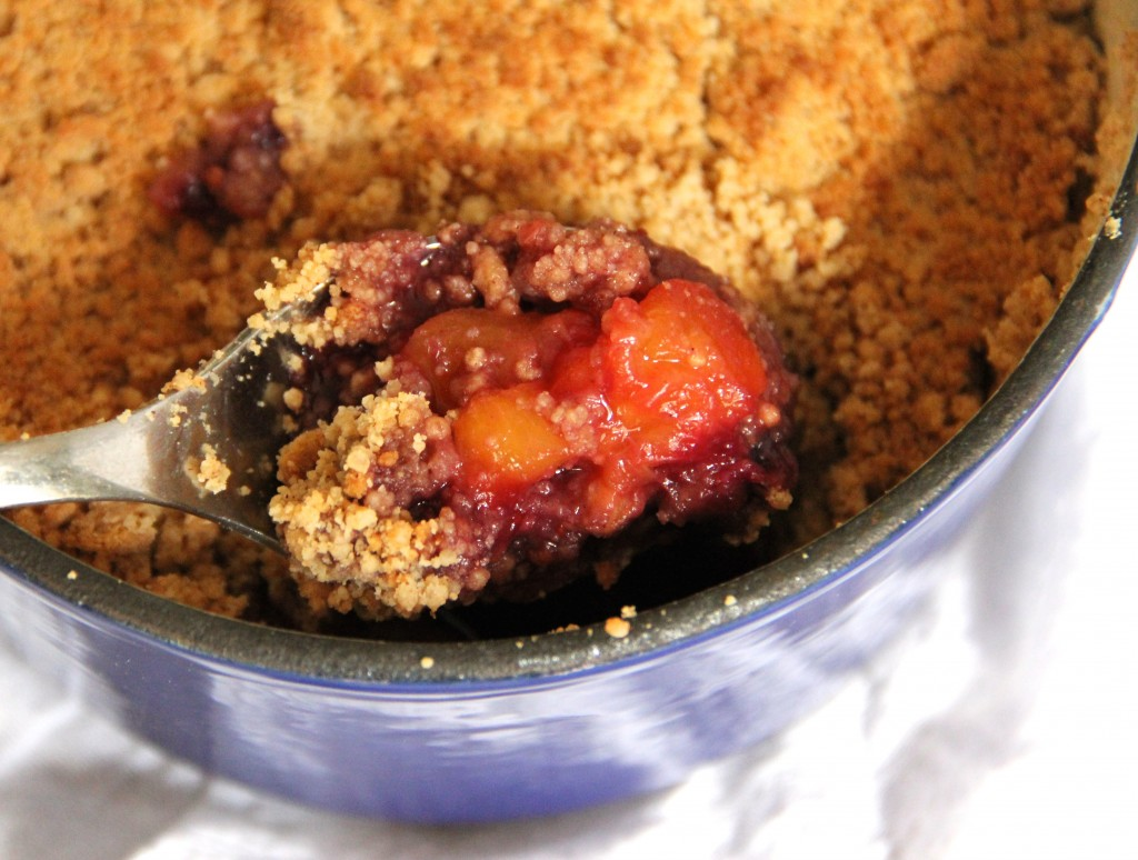 Blueberry Peach Crumble- Emma's Little Kitchen