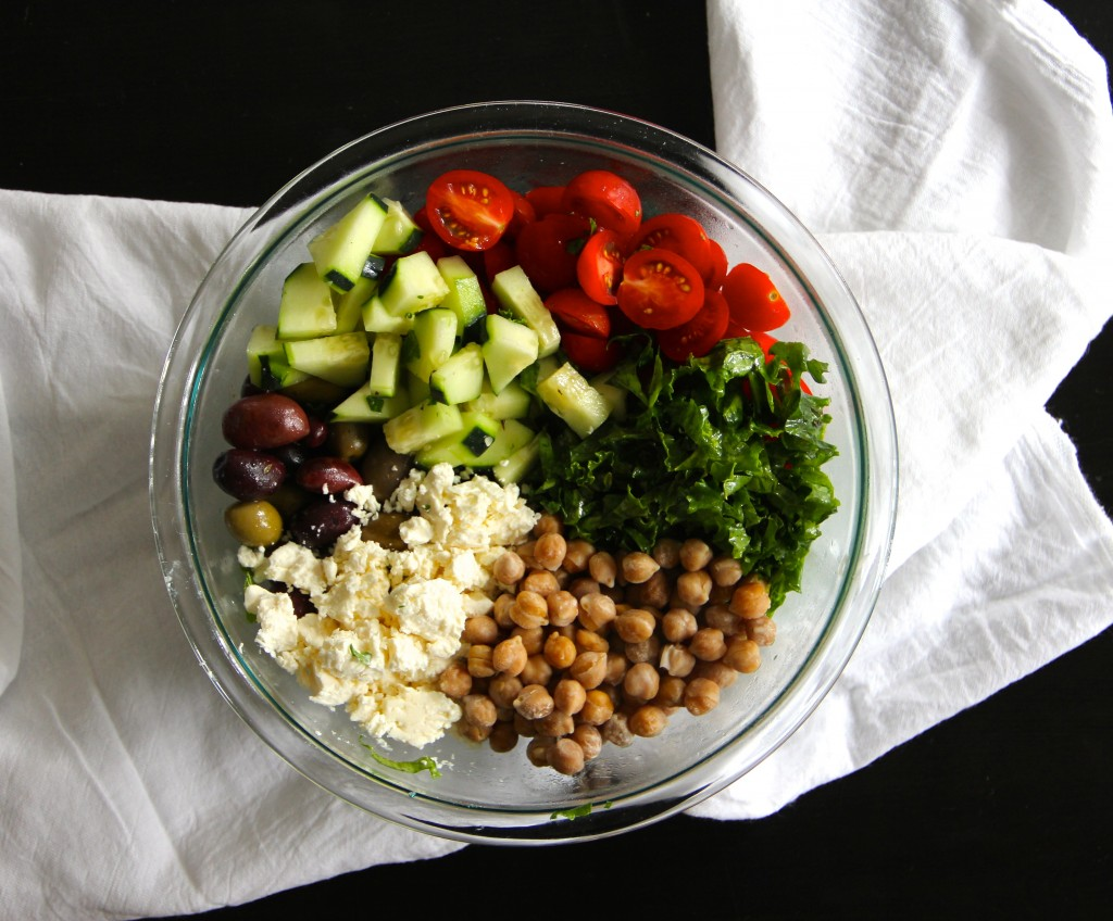 Kale Greek Salad- Emmas Little Kitchen