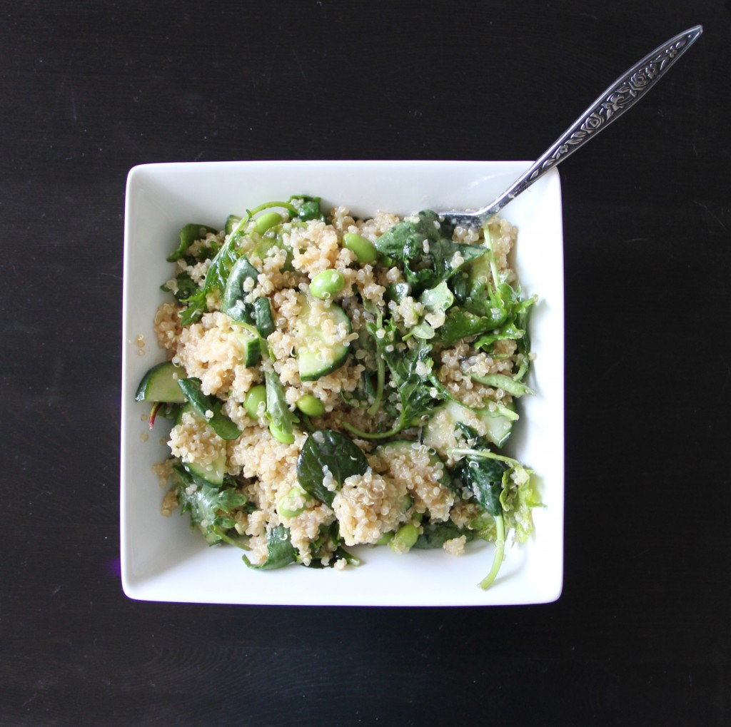 Cucumber, Edamame & Quinoa Salad- Emmas Little Kitchen