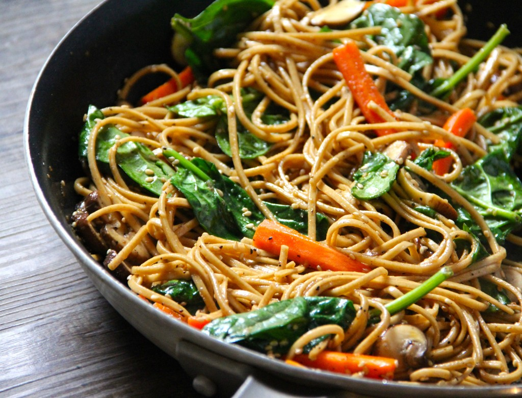 Black Pepper & Sesame Stir Fried Noodles- Emma's Little Kitchen
