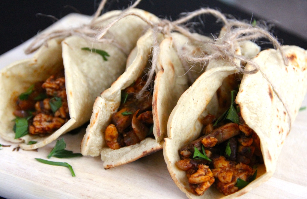 Mushroom Tempeh Tacos- Emma's Little Kitchen