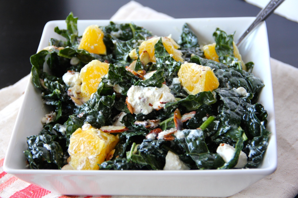 Kale Salad with Citrus, Almonds & Feta- Emma's Little Kitchen