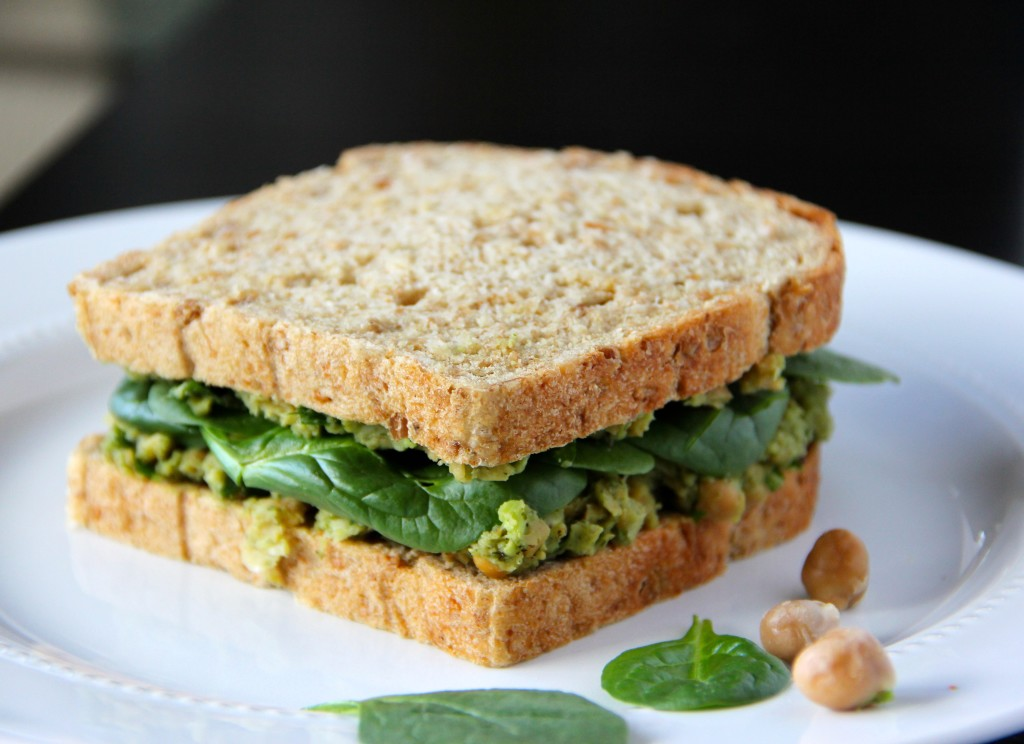 Smashed Avocado & Chickpea Sandwich- Emma's Little Kitchen