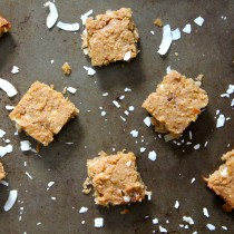 White Chocolate Coconut Chickpea Blondies- Emma's Little Kitchen