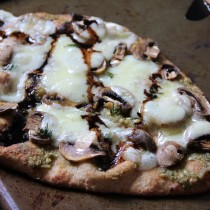 Mushroom & Swiss Naan Pizza- Emma's Little Kitchen