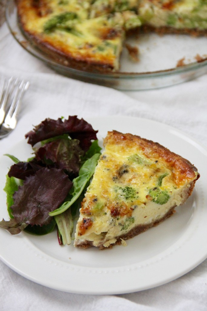 Broccoli Stilton Quiche- Emma's Little Kitchen