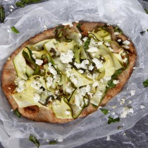 Courgette & Lemon Pizza= Emma's Little Kitchen