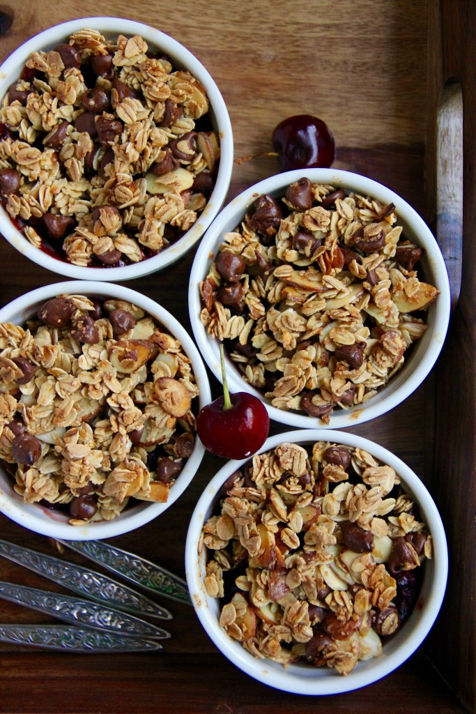 Cherry Chocolate Crisp- Emma's Little Kitchen