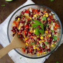 Quinoa Bean Salad- Emma's Little Kitchen