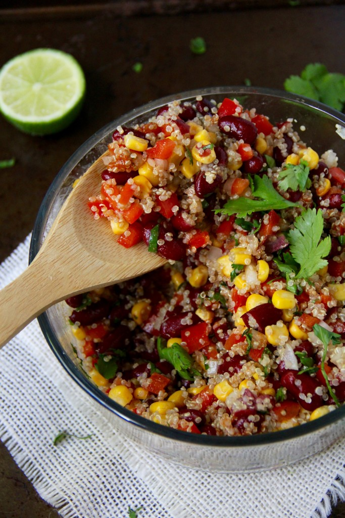 Spicy Bean and Quinoa Salad- Emma's Little