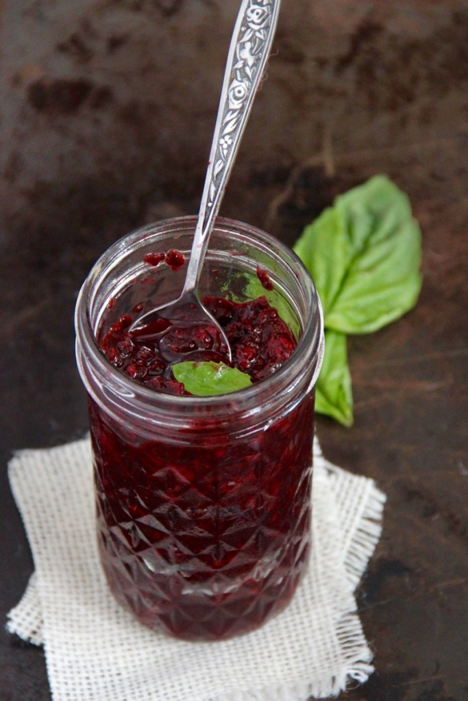 Blackberry Basil Chia Jam- Emma's Little Kitchen