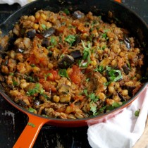 Aubergine Tomato Chickpea Stew- Emma' s Little Kitchen