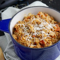 One Pot Lentil Tomato Pasta- Emma's Little Kitchen
