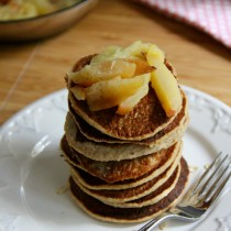 Double Apple Oat Pancakes