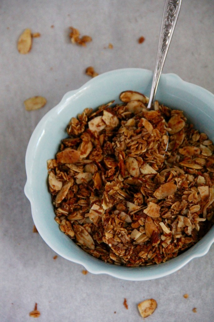 Coconut Maple Almond Granola- Emma's Little Kitchen