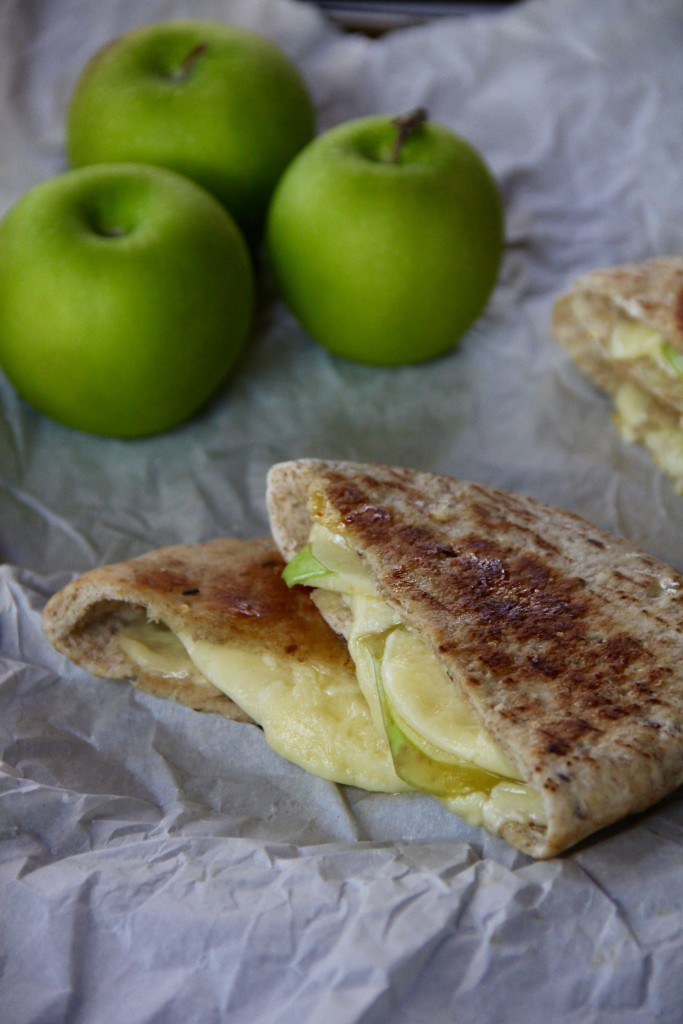 Apple Cheddar Pita Pockets- Emma's Little Kitchen