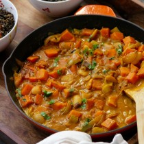 Sweet Potato Leek Butterbean Curry- Emma's Little Kitchen