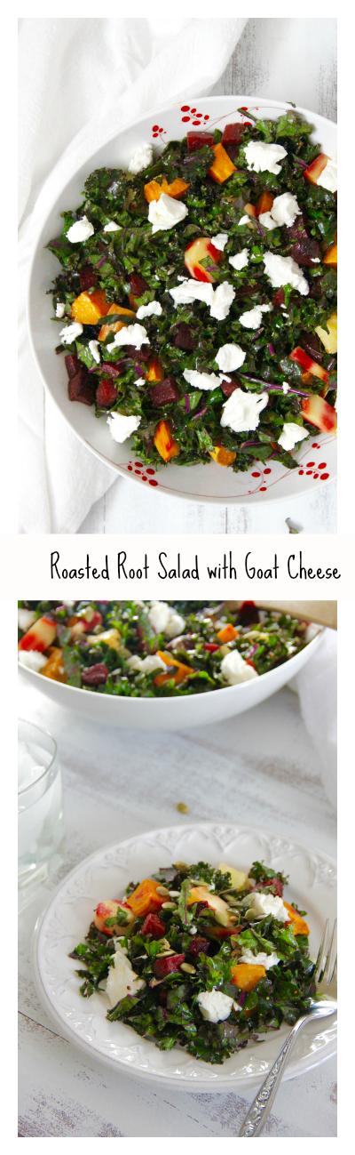 Roasted Root Salad with Goat Cheese