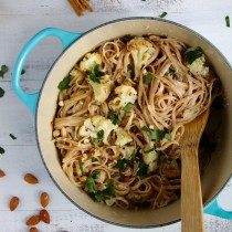 Linguine with Roasted Cauliflower, Lemon and Yoghur