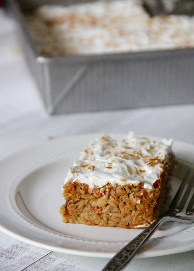 Breakfast Carrot Cake with Whipped Coconut